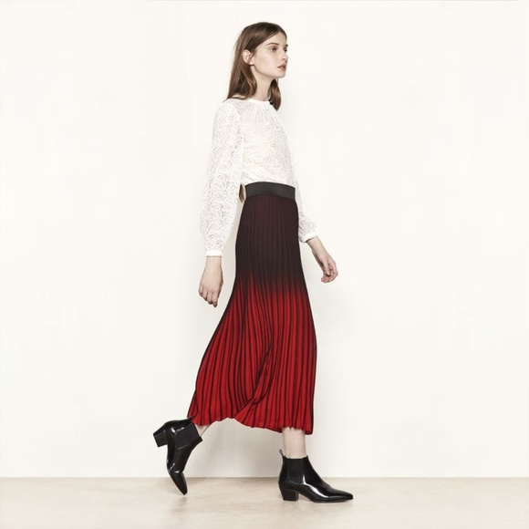 buy online innovative design professional sale NWT Maje Paris Jonael pleated midi skirt ombré T3 NWT